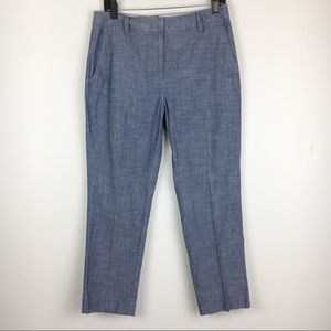 Lands' End Chinos Chino Chambray Blue Pants Size 6